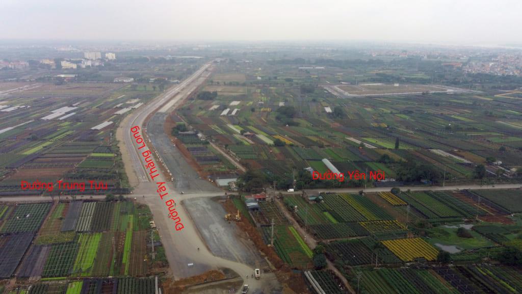 Quy hoạch Đường Tây Thăng Long từ Võ Chí Công về đến Vành Đai 4